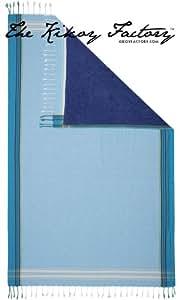 Kikoy Factory - Drap de plage / Paréo - Serviette de bain - Kikoy Towel 13435B4 - Couleur : Powder Blue - Taille : 95 x 165 cms