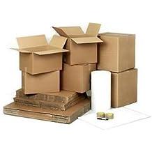 Large Cardboard Box House Moving Removal Packing Kit inc 40 new boxes, bubble wrap, refuse sacks, tape, pen