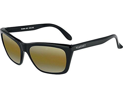 453ba24a24 Vuarnet sunglasses VL 0006 0001 Plastic Black Brown with Mirror effect