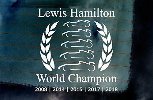 Pro Lewis Hamilton World Champion 2018 Car Van Window Windscreen Bumper Vinyl Die Cut Custom Stickers Decals Graphics Blue 175mm x 175mm -
