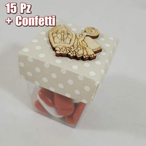 Sindy bomboniere scatoline cresima per confetti idee originali a prezzo ingrosso completa di confetti o senza (15 scatoline + confetti)