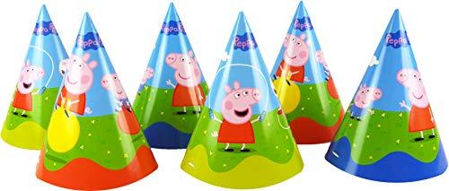 DYNASTRIB Peppa Pig Hüte, 6 Stück, mehrfarbig, One Size, 3032384 (Peppa Hut Pig)
