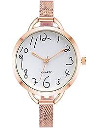22ca60fbe440 Rosepoem Mujer delgada Alloy Band Quartz Mira Casual Simple Reloj de pulsera  regalo Para Lady
