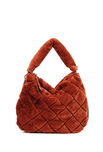 Angkorly bolsos tote cabas shopper a spalla tote bag tote bag pelliccia finta frange moderno street vintage/retrò flessibile scuola donna di tendenza elegante moda idea regalo bv18292 orange