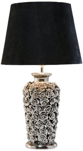 Kare Design Tischleuchte Rose Multi, moderne Design Nachttischlampen mit schwenkbarem Stoffschirm,...