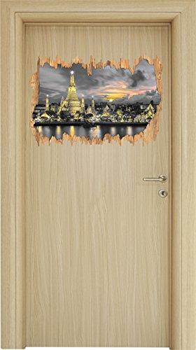 wat-arun-temple-night-view-bangkok-thailandia-b-w-particolare-di-legno-svolta-nel-look-3d-parete-o-f