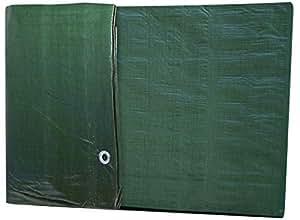 Windhager Schutz-Plane MEDIUM, Gewebeplane Abdeckplane, grün, 100 g/m², 2 x 3 m, 07030