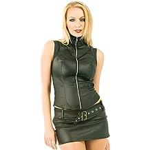 484fb73292 Honour Minifalda de cuero sintético Christina - negro