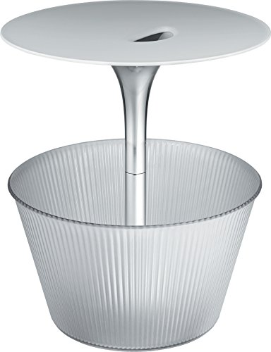 Alessi Jw01 Pick-up Petite Table Porte-revues en Zamac Chromée et Résine Thermoplastique