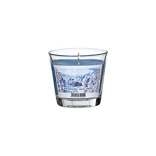 Smart Planet® Kerzen Ambiente Weihnachten - Duftkerze Winterzauber - Durchmesser 9 cm, Höhe 8 cm Kerze im Glas weihnachtlicher Duft und tollem Farbton