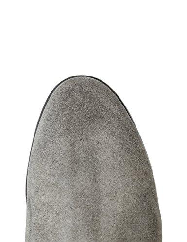 FIND Damen Cowboy-Stiefel aus Veloursleder Grau (Grey)