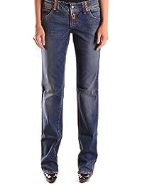 Galliano Damen MCBI130056O Blau Baumwolle Jeans