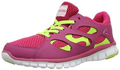 Kappa FOX Footwear unisex, Synthetic/Mesh 241560 Damen Sneaker, Pink (2240 PINK/YELLOW), EU 38