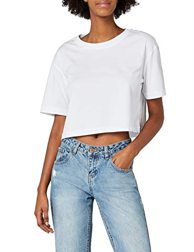Urban Classics TB1555 Damen T-Shirt Ladies Short Oversized Tee White, S