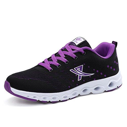 Low-Top Sneakers der Erwachsenen-Neue Frühlings-Kokosnuss-Schuh-Damen-Webart-Breathable haltbare Rutschfeste Freizeitschuhe-Frauen Athletische Schuhe (Color : A, Größe : 36)