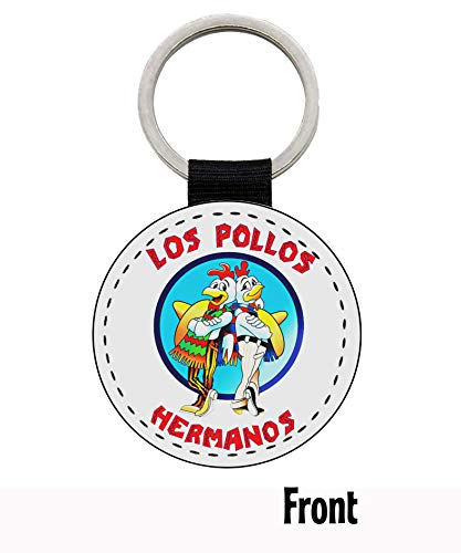 MasTazas Breaking Bad Walt Danger Toxic Sign Los Pollos Hermanos Llavero Keyring