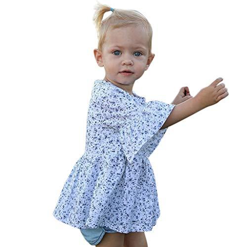Julhold Kleinkind Kinder Baby Mädchen Sommer Schöne Coole Freizeit Floral Bedruckte Glockenhülse Outfits 0-3 Jahre 2019