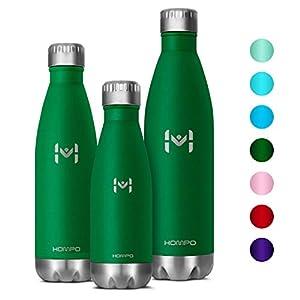 41OiEFAl%2BaL. SS300 HOMPO Bottiglia Acqua in Acciaio Inox - Borraccia Termica 260ML/ 500ML Isolamento Sottovuoto a Doppia Parete,Privo di…