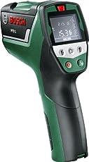 Bosch Thermodetektor PTD 1 (2x Batterien AA, Schutztasche, Maximaler Messabstand 5 m, +/- 1° Messgenauigkeit Temperatur, +/- 2% Messgenauigkeit Feuchtigkeit)