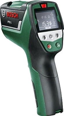 Bosch DIY Thermodetektor PTD 1, 2x Batterien AA, Schutztasche (Maximaler Messabstand 5 m, +/- 1° Messgenauigkeit Temperatur, +/- 2% Messgenauigkeit Feuchtigkeit)