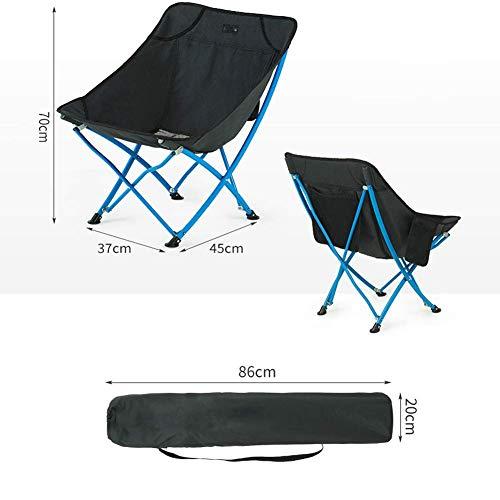 GOG Hocker Bank Stühle Folding Camping-Stuhl, Bewegliche Stühle Mit Tragetasche Schwer Für Trekking, Wandern, Picknick-Grill Angeln Klappstuhl,Schwarz