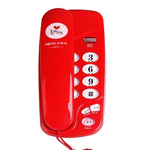 JPP Telefon/fest verdrahtet Telefon/Büro Geschäft Haus Wand Festnetz/Größe 190 * 95 * 66mm (Farbe : Red)