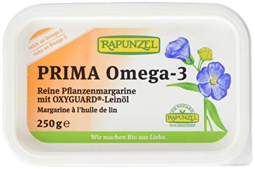 Rapunzel Pflanzenmargarine Prima Omega-3 mit Leinöl, 4er Pack (4 x 250 g) - Bio