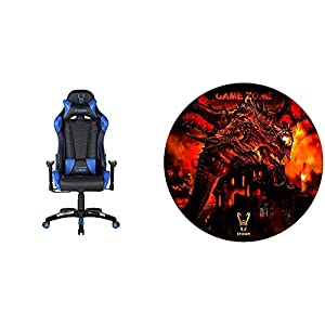 Woxter Stinger Station Blue – Silla Gaming (Racing) + Alfombrilla Gaming de Suelo