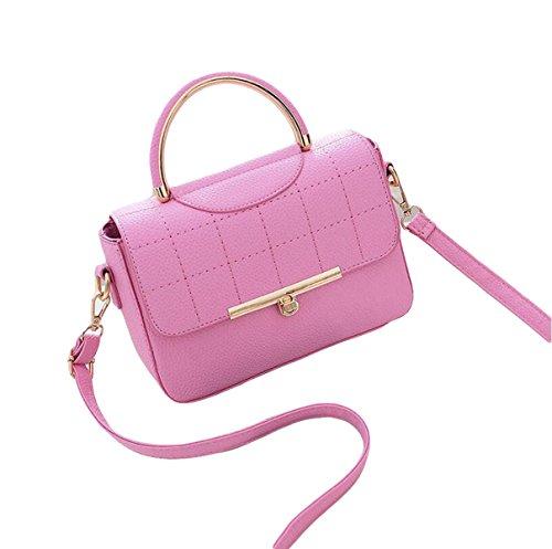 Damen Wilde Umhängetasche Mode Handtasche Kleine Quadratische Tasche Messenger Bag Einfache Atmosphäre Elegant Pink
