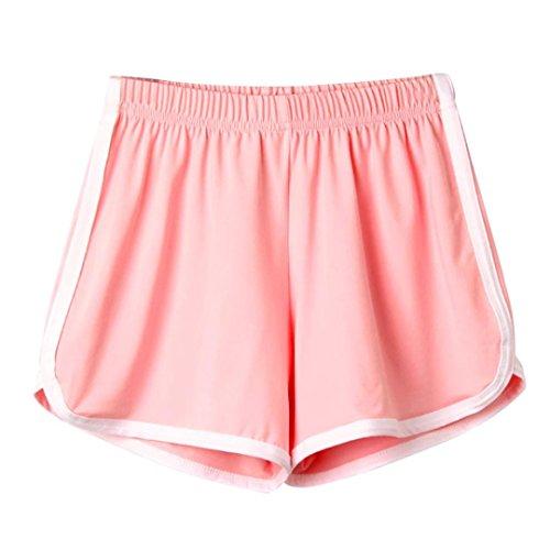 UFACE Damen Sport Shorts Shorts Mode Frauen Dame Sommer Sport Shorts Strand Kurze Hosen (M/(38), Rosa)