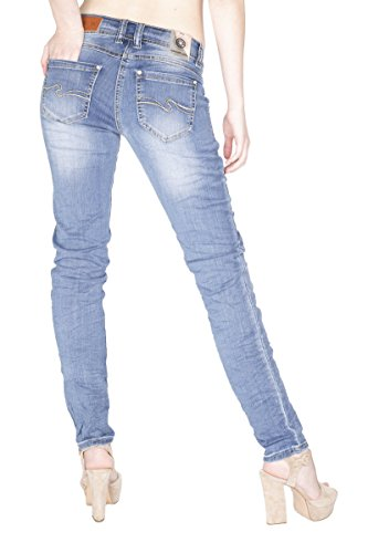 Blue Monkey Jeans -  Jeans  - zip - Basic - Donna Blau