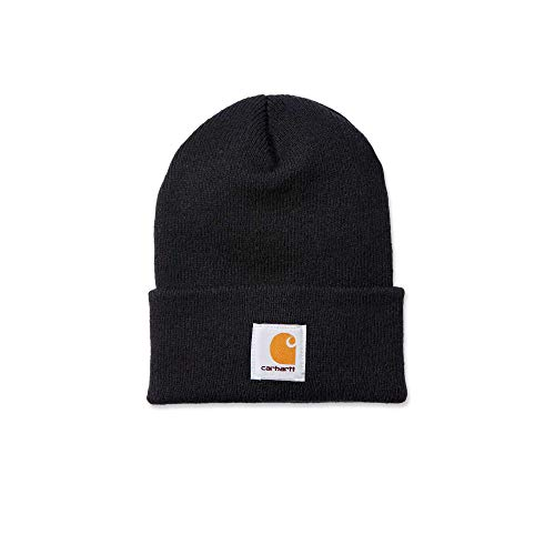 Carhartt Wintermütze für Sie und Ihn, OFA, 100% Polyacryl,elastisch, Schwarz, Einheitsgröße
