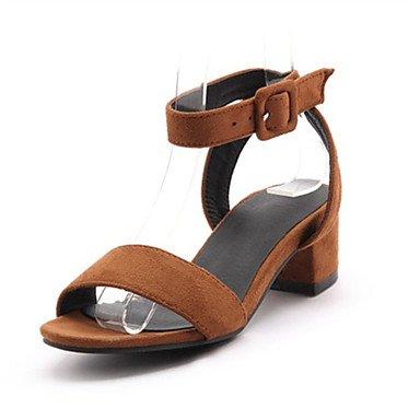 LFNLYX Donna tacchi Primavera / Autunno / Inverno piattaforma / Comfort materiali personalizzati / similpelle matrimonio abito / / Casual Chunky fibbia tacco Gray