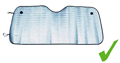 Preisvergleich Produktbild UNIVERSALE AUTO FRONTSCHEIBE ABDECKUNG Alu Sonnenschutz Sonnenblende Frontscheibenabdeckung 130 x 60 cm