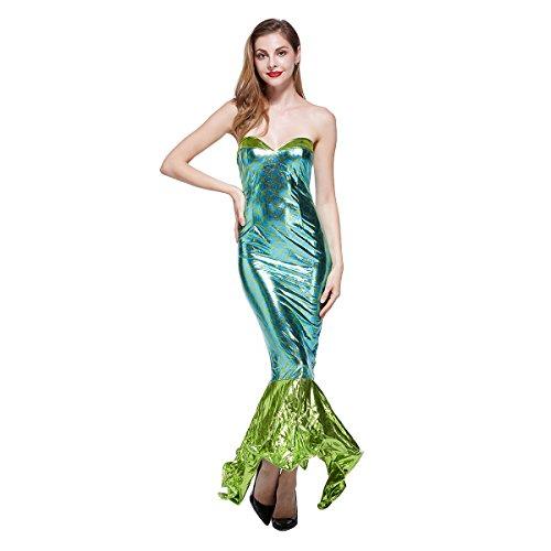 Sexy Kostüm Kleine Meerjungfrau - VENI MASEE Frauen Sexy Meerjungfrau Halloween Kost¨¹ m