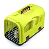 Xinnegen Portable Pet Carri Outdoor Transport Box Breathable and Durable Airline Approved Animals Carri (Color : Green)