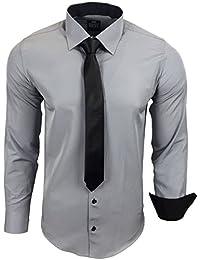 Amazon.es: Gris - Camisas / Camisetas, polos y camisas: Ropa