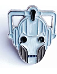 Metal Enamel Pin Badge Doctor Dr. Who Enemy Cyberman (Cyber Man Face)