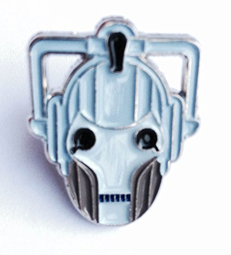 Anstecker, Metall, Emaille, Motiv Dr. Who Cyberman Enemy (Cyber Man Face) Dr Who Anstecknadel