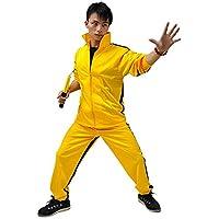 ZooBoo Amarillo Artes Marciales Jumpsuit–Pelele de Disfraz de Halloween Lucha contra película Chándal Traje Ropa Deportiva para Hombres y Mujeres–Amarillo, Amarillo