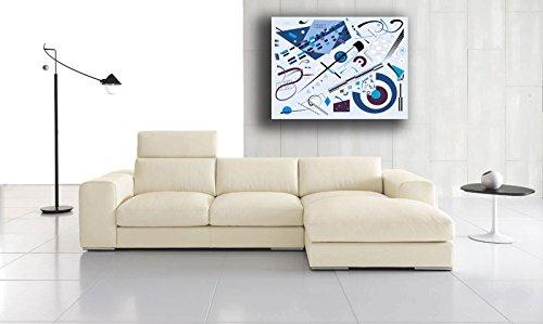 Quadro Moderno KANDINSKY camera da letto COMPOSIZIONE Astratto BLU CELESTE  - RIPRODUZIONE STAMPA SU TELA Canvas grande Quadri Moderni Arte Astratto ...
