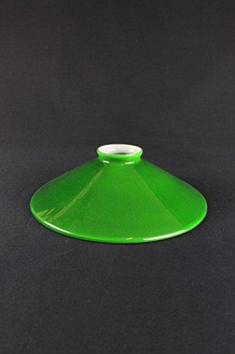 Grüne Glas-schirm-ersatz (Lampenschirm Glas grün Teller für Kronleuchter Pendelleuchte–Ø 22cm)