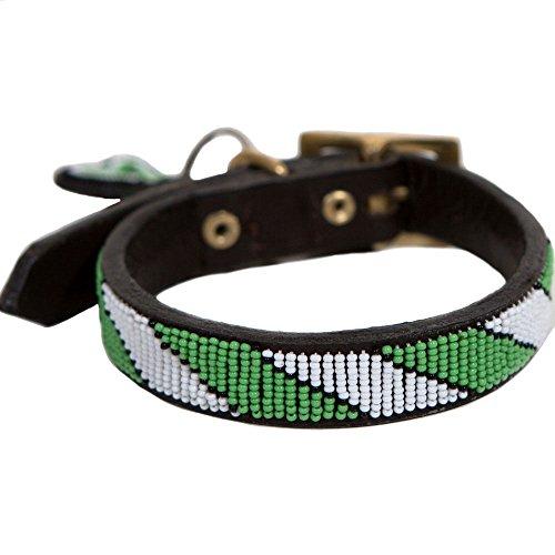 Wolfe + Hyde Collar para perro de diseño - 100% piel, hecho a mano y colorido para perros elegantes