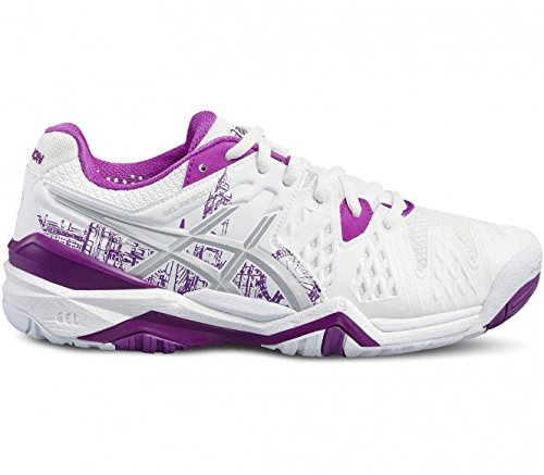 ASICS GEL RESOLUTION 6 L.E. LONDON - WHITE / SILVER / PURPLE (EU 39 - CM 24,5)