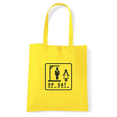 Art T-shirt, Borsa Shoulder Sp-sat-, Shopper, Mare Giallo