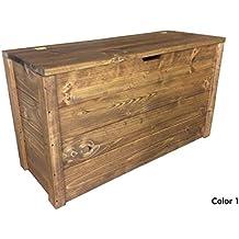 Baúl de madera 90 x 35 x 50h Nogal Oscuro DISPONIBLE TANBIEN A MEDIDA