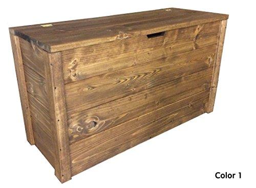Coffre en bois 90 x 35 x 50H noyer foncé également sur mesure