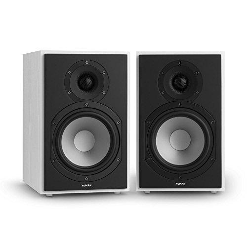 NUMAN Reference 802 • Regal-Lautsprecher • Lautsprecher-Boxen • HiFi-Boxen • Lautsprecher-Paar • high-end Boxen • 2-Wege-System • Spitzenleistung 120 Watt • Impedanz 4 Ohm • weiß