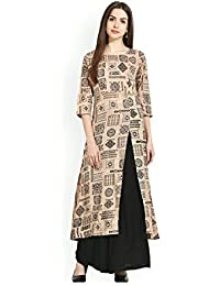AnjuShree Choice Women's Cotton A-Line Kurti