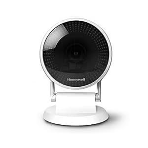Honeywell, Telecamera di Sicurezza Wi-Fi C2, Visione Grandangolare 145° e Notturna, HD 1080P, riconoscimento del pianto di un bambino